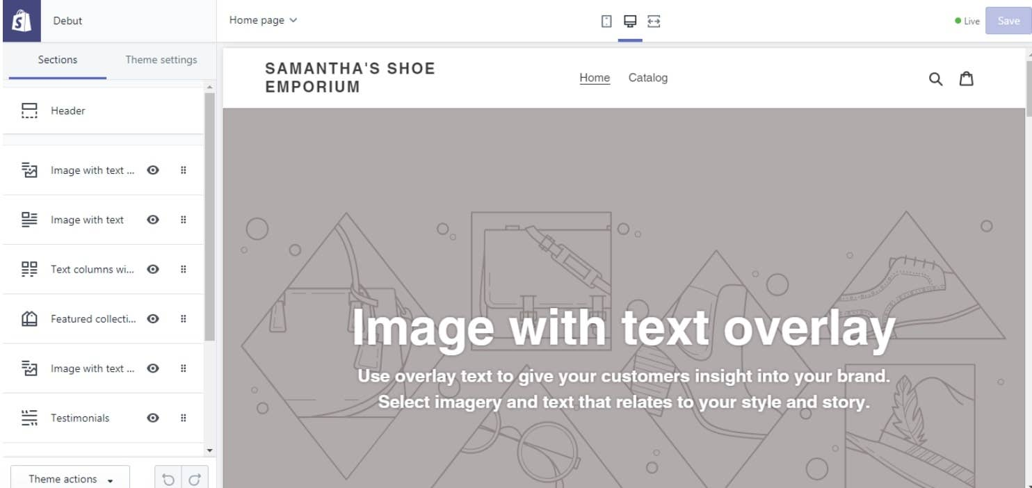 shopify edit theme