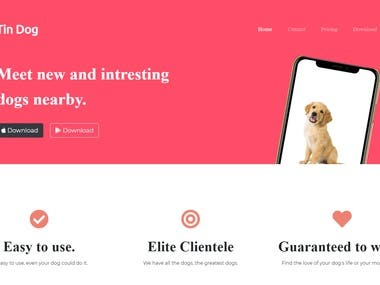 Used different concept of bootstrap and css to make website. This website is about dogs.