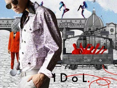 Motion fashion collages serie for men's fashion brand. Collection SS 20. SSM ads canpaign 2020 https://the-dots.com/projects/idol-men-s-fashion-brand-collection-2-9-371800