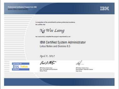 IBM Certified System Administrator - Lotus Notes and Domino 8.5