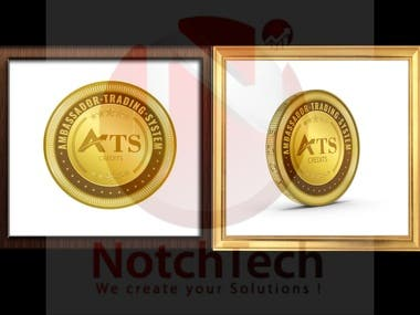 Conversion of 2d Coin design to 3d
