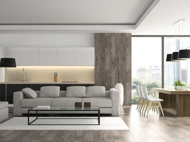 Comfortable living Space Chief Architect, Revit, SketchUp, Archi CAD ... Lumion, V-ray, ...