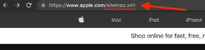 sitemap access