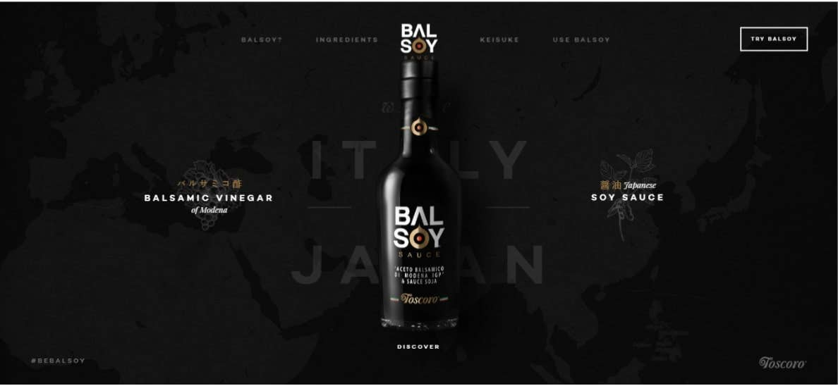 balsoy single page website