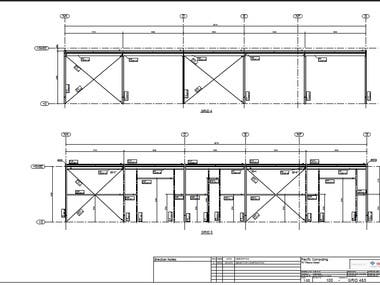 I made the shop drawings package for 2 steel structures in Australia for a client with the AS code .  the package including the following  1. Fabrication Drawings 2. Erection drawings  3. Single part drawings 4. Material list MTO