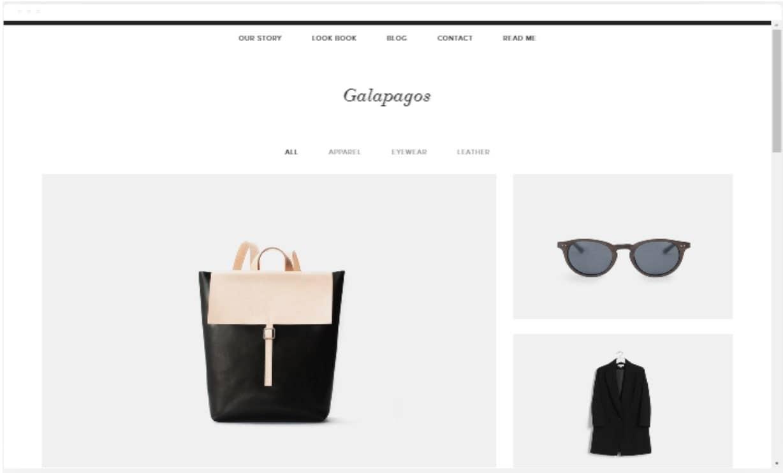 squarespace template galapagos