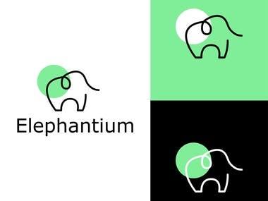 Logo design for learning platform.