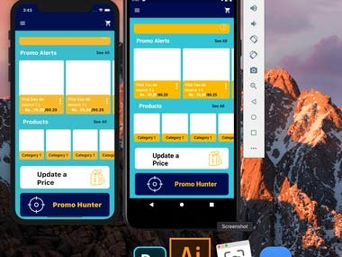 Sample of Flutter UI running on both IOS and Andriod