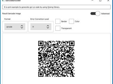 It is the application to generat and recognize QR code that contain GS1.
