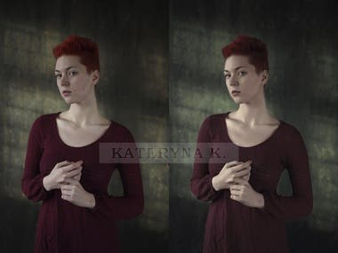 Here are some samples of my retouching work