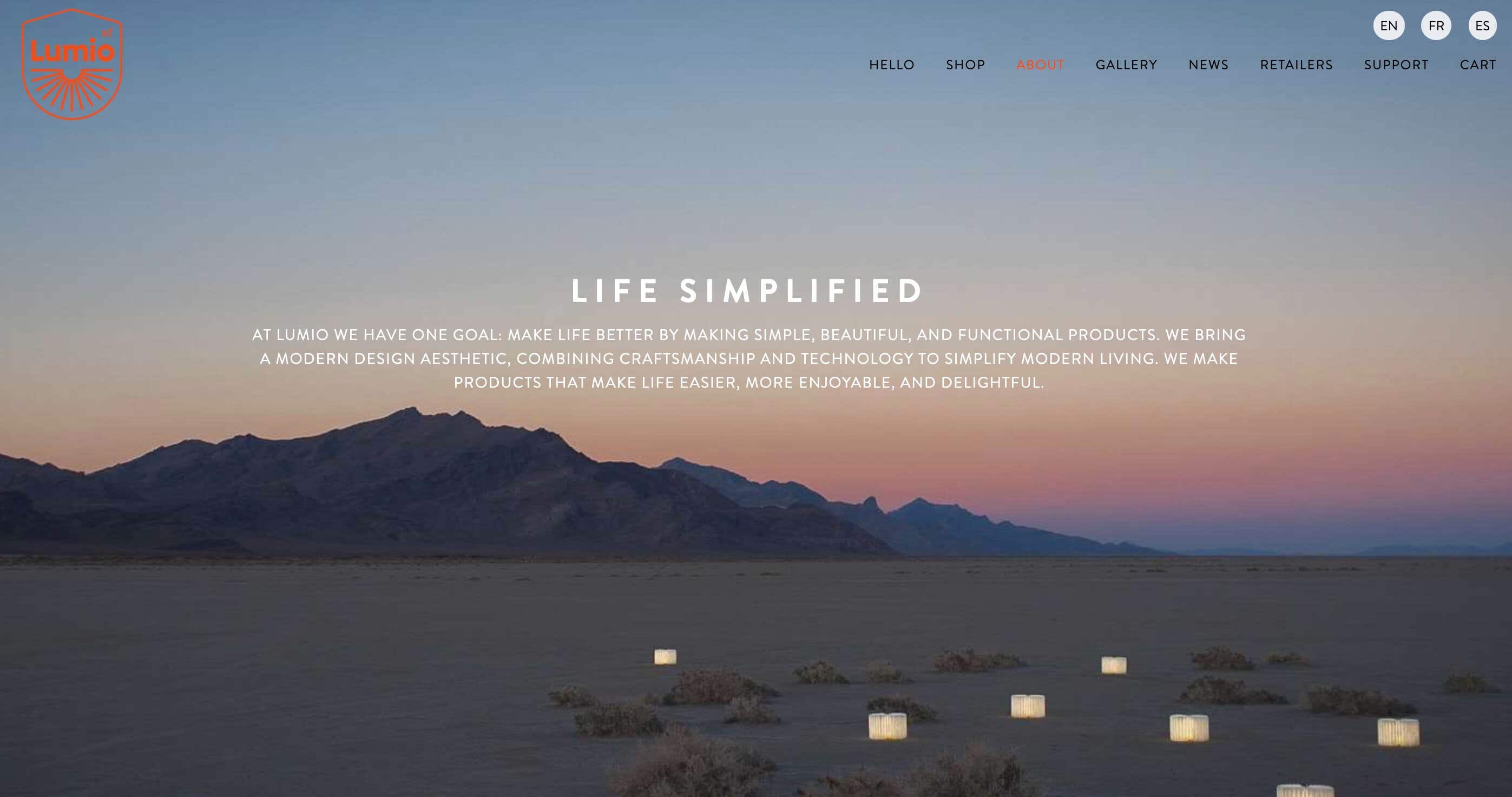 lumio website design