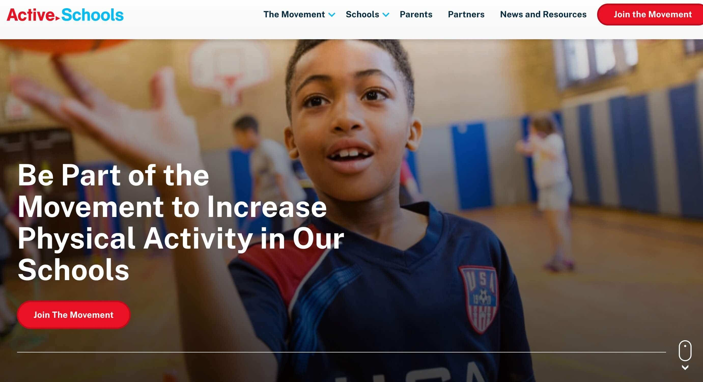 active schools website design