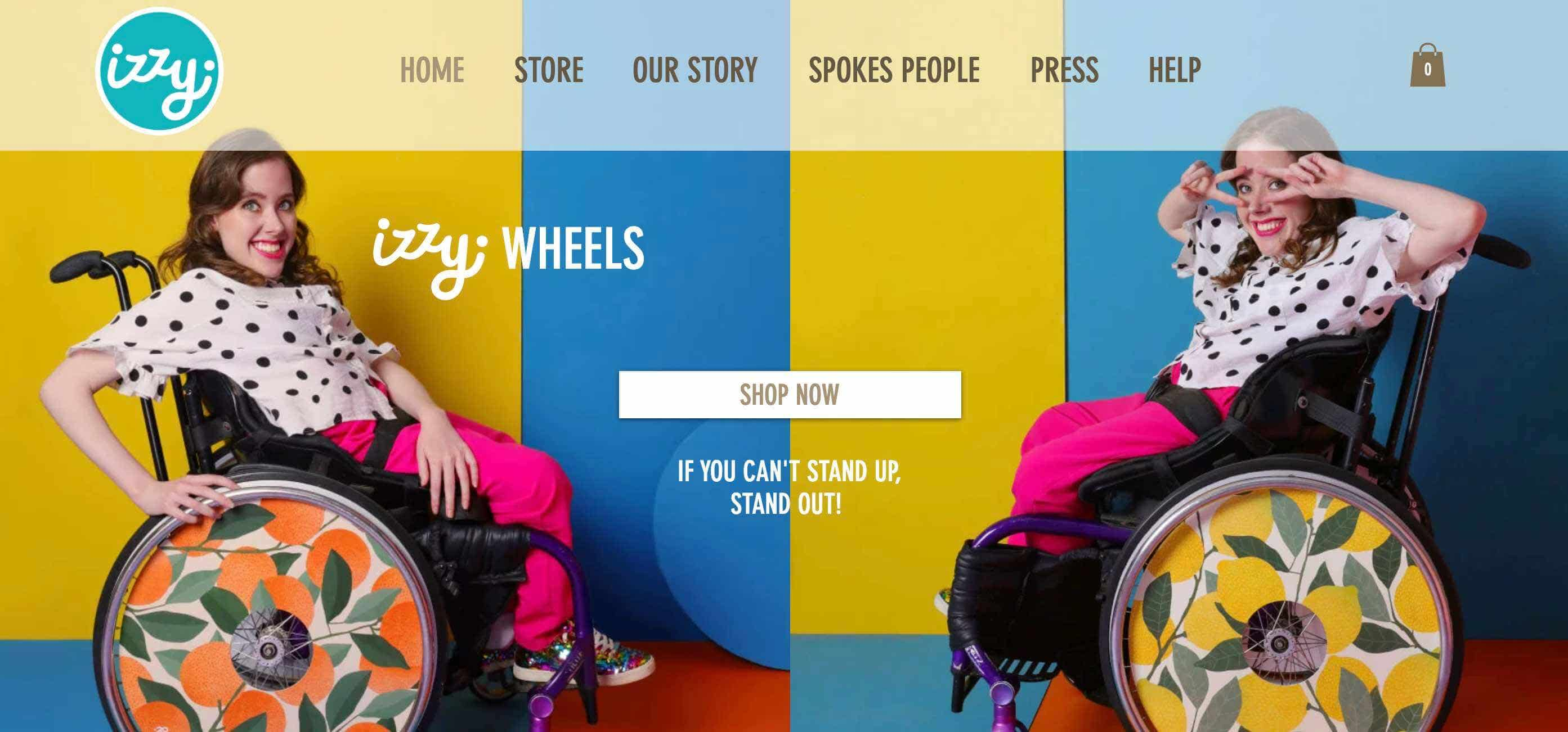izzy wheels website design