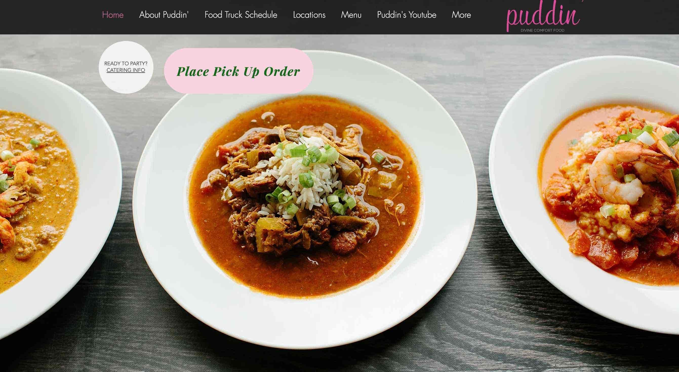 puddin website design wix