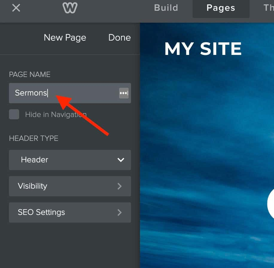 how to build a church website with weebly