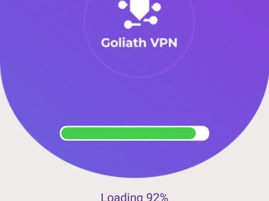 """Goliath VPN - Fast Free & Unlimited Secure Proxy VPN is made for you to avoid wasting time on trying lots of free VPN apps. This is the most incredible VPN Proxy apps for unlimited VPN connectivity. You do not need to register on this VPN app and no additional VPN network settings required to be configured. It is a super unlimited proxy featuring a tunnel and ipvanish. No speed limitations and no limitations on bandwidth while using the """"Goliath VPN - Secure Proxy VPN"""" app vpn android."""
