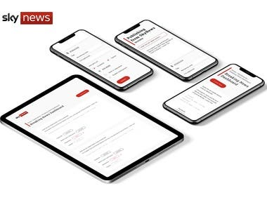 Using the Firebase platform, we made the Sky News website even more social-compatible.     Our BrightDock gurus simplified their social automation with Facebook, Twitter, iOS, Android, and CampaignMonitor APIs for submissions and previews.      Through ticker widgets, submission previews, convenient tabbing, UI design, a desktop app, and more, we've made Sky News easier than ever for journos to navigate.     We've helped to deliver your news even hotter off the (digital) press!
