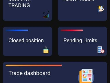 Trading Application where user can practice for trade.