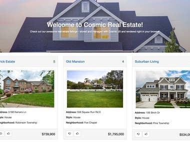 Real Estate website built in Angular and ASP.NET