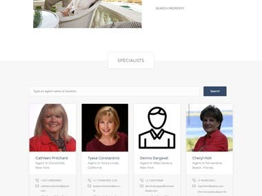 This is a Real Estate project where Agents can upload properties of their clients who want to sale their houses or other properties. There are two modules: 1.  one is Admin panel who is owner of website and manage website  2. other is Agent Panel where agent can manage his profile and his company profile.  3. Agent can upload this property to sale. 4. There is Pricing Plan, Agent can purchase plan and upload properties with limitations or without limitation as per his plan. 5. Here clients are guest users who want to purchase property. They can see all properties in their desired area.  6. Guest users can filter properties according to Price, Area, number of rooms, baths, lawn etc. There is list of Agents, Companies and Properties. There is also a Map system where we display all properties on Google Map.  Client can send email for meeting with Agent to see his/her selected property.