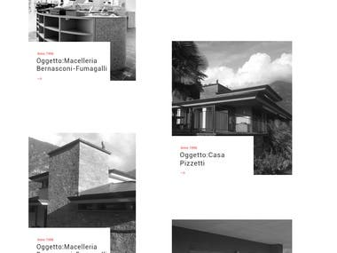 This was a website project for architect designers Fernando & Luca Albertini from Switzerland. Project is from ChrisPieracci77 he is an amazing guy to work with. Both Fernando & Luca are experienced architects who create finest the restaurants, hotels, houses, villas etc. in different places.   Particularly, the design of the home page is quite unique with simplicity. My desire was to showcase well their awesome projects, along with this, the viewers can see nothing but all their successful architecture projects. Similarly, inner pages are totally seamless with the simple menu and cool placement styles to showcase various architecture images. Chris helped a lot with his creative inputs in the design. Project ended with an amazing review by Chris and his client.