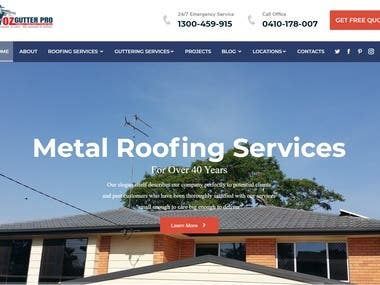 Website Design Contest work for roofing company.