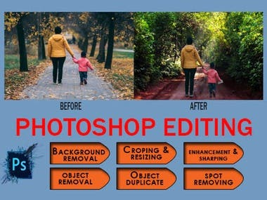 I will do photoshop editing for your pictures.