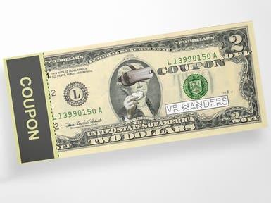 Dollar Bill Coupon Design