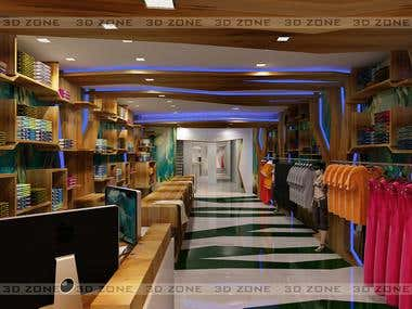 Interior design of a garments showroom designed by me