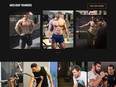This is a custom website for hiring GYM trainers.