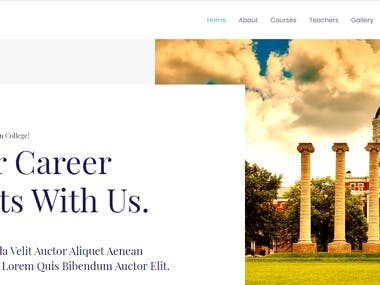 Fully Responsive College Website