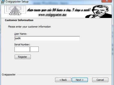 Installer for CraigsPoster 2013