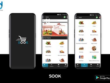Online Grocery Store with custome design and ui Technology use : Andriod  Back end - Php with mysql  https://play.google.com/store/apps/details?id=com.sook.shoping&hl=en_IN