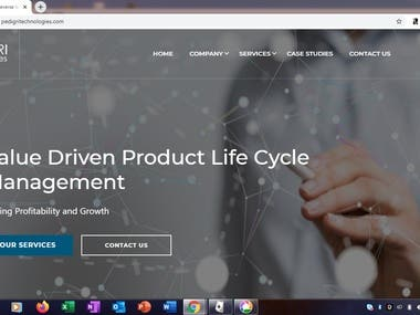This is a website developed for a Supply Chain and Logistics company, established in the regions of UAE and MEA. The URL of this website is- https://www.pedigritechnologies.com/