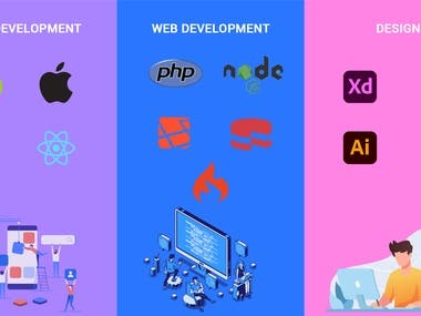 Profoessional Developer with leading knowledge of certain technology Mobile Development  Andriod  IOS Flutter  React Native  Web Development  Php, Cakephp, Laravel,codeigniter, node js  Database - Mongodb , Mysql   UI/UX Design  Adobe Xd  , photoshop , figma