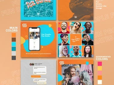 My submission for a Social media Branding Concept Contest for SEEN DateApp in Freelancer.com I didn't win but it was a good exploration for expanding my social media design skills :)  Images : UNSPLASH.com (Free for commercial use)
