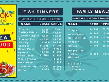 Hello! Here's my new design about restaurant menu list.  If anyone this design or you want any design like this.  so you can contact me. Thank you.