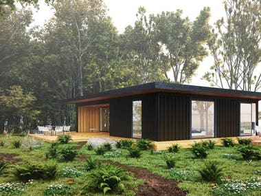 This Modular Home is a beautiful combination of indoor and outdoor space, with a great room ideal for entertaining guests and family. The integrated porch and storage space are thoughtful additions to the design.