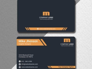 my own unique and creative business card design sample work