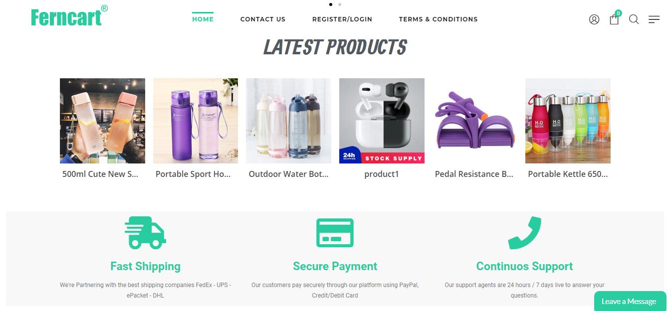 Development of an eCommerce website