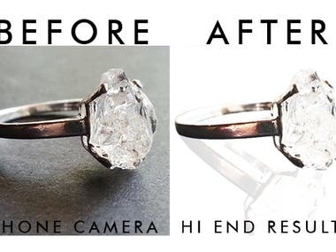 Poor quality photos from your phone become more attractive to your jewelry company, my editing experience just got better with my favorite clients. I will give maximum results for your efforts.