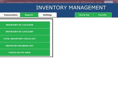 MS Database Development Inventory Management