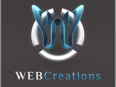 Logo Design Pack for Web Design Company WEB Creations. Includes different versions.