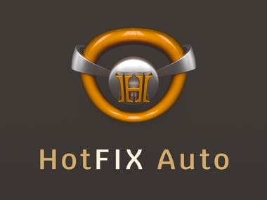 3D Logo Design - Hot FIX Auto Company 4 Different examples of 3D logos for a company that specializes and provides automotive solutions.