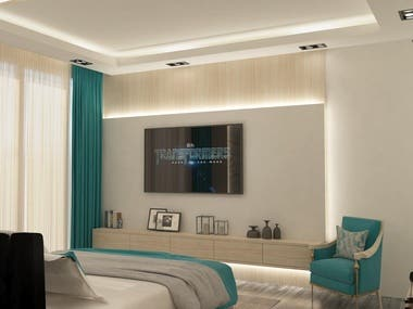 master bedroom with dressing