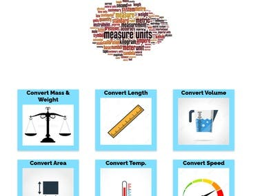 This is a website which can convert units of weight, mass, temperature, length ,area,volume and speed. Have a look at the website here :http://gautamarora-com.stackstaging.com/unit-converter/index.html