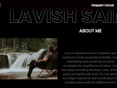 Official portfolio website of Lavish Saini