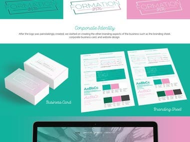 Branding and graphic design for online collateral for social media pages for female-led startup, Formation HR.