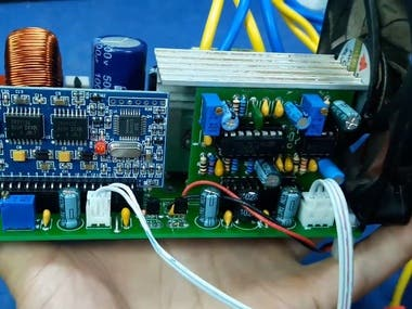 This project is power supply device for generating 220V AC Sine waveform from 12V DC.
