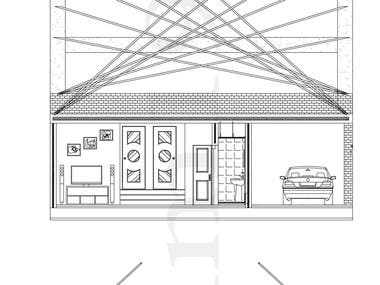 Technical drawing with details